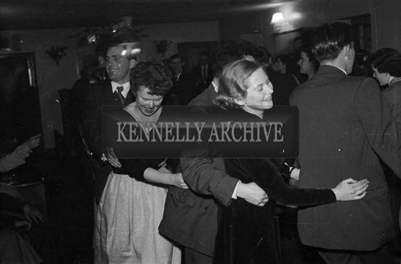 6th January 1956; A Group Doing The Conga At The Kerryman Social In The Meadowlands Hotel, Tralee.