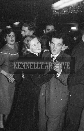6th January 1956; A Couple Dancing At The Kerryman Social In The Meadowlands Hotel, Tralee.
