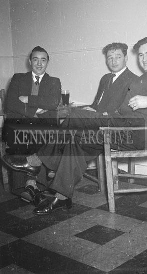6th January 1956; Three Men Posing For The Camera At The Kerryman Social In The Meadowlands Hotel, Tralee.
