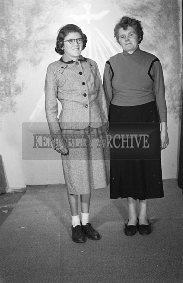 1956; A studio confirmation photo of a girl and her mother.