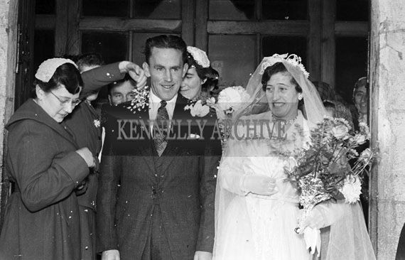 1956; A photo taken at a wedding which took place in Glenbeigh.