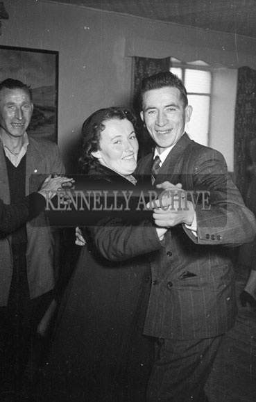 January 1956; Newlyweds dancing at their wedding reception in The Meadowlands Hotel, Tralee.