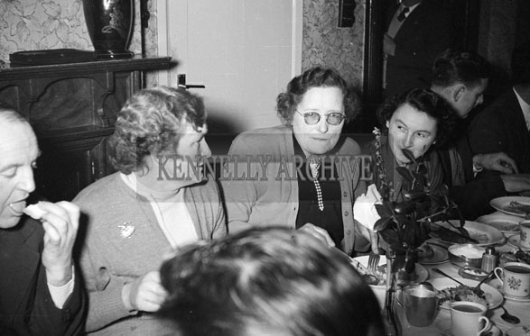 24th January 1956; A Group Of People At Their Table At The Lixnaw ICA Social In The Meadowlands Hotel, Tralee.