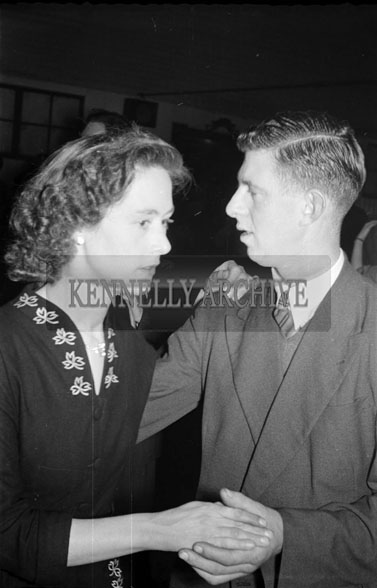 24th January 1956; A Couple Dancing At The Ballyduff Coursing Dance.