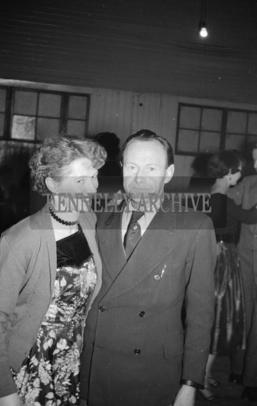 24th January 1956; A Couple Posing For The Camera At The Ballyduff Coursing Dance.