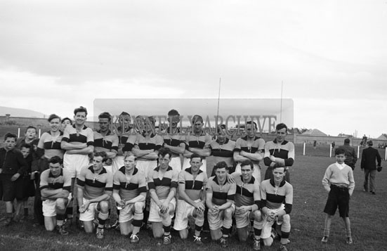 21st October 1956; A Carlow team photo taken at a National League Match where Kerry defeated Carlow. The final score in the match was Kerry 0-9 to Carlow 0-6.