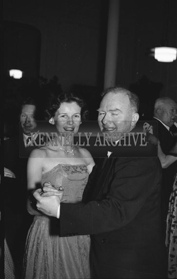 1st February 1956; A Couple Dancing At Tralee Golf Dance At The Lake Hotel In Killarney.