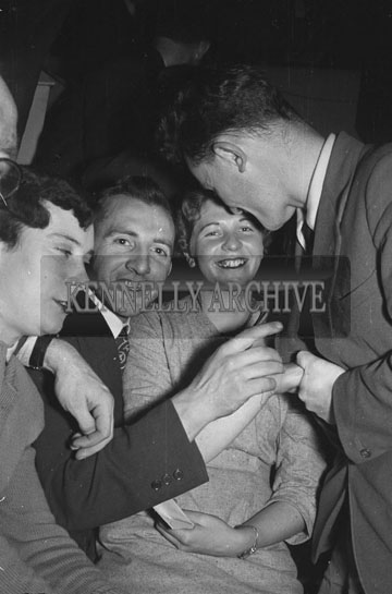 3rd February 1956; People Enjoying Themselves At The Abbeydorney Plough Prize Dance.