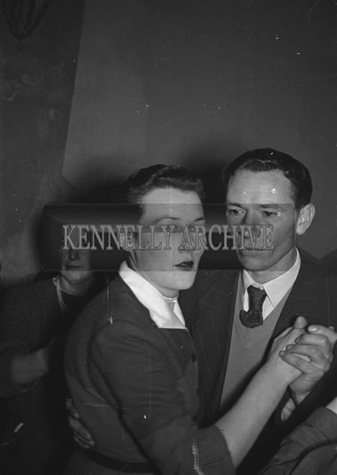February 1956; A Couple Dancing At The Kerries And Knockanish Coursing Dance In Ardfert.