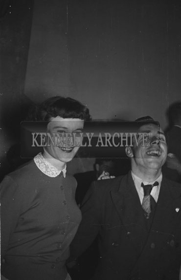 February 1956; A Couple Laughing At The Kerries And Knockanish Coursing Dance In Ardfert.