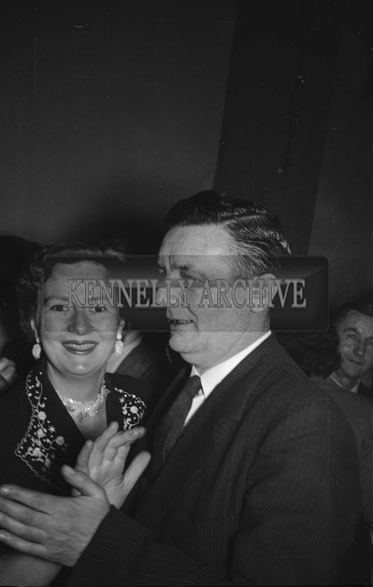 February 1956; A Couple At The Kerries And Knockanish Coursing Dance In Ardfert.