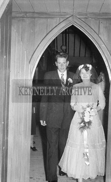 October 1956; A photo taken at the Dillane/Healy Wedding which was held at the Church of the Immaculate Conception and was followed by the reception in the Meadowlands Hotel.