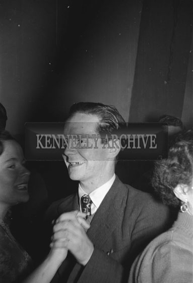 February 1956; A Man Dancing At The Kerries And Knockanish Coursing Dance In Ardfert.