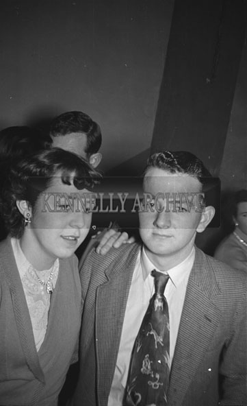 February 1956; A Couple Posing For The Camera At The Kerries And Knockanish Coursing Dance In Ardfert.