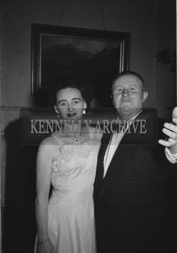 February 1956; A Couple Posing For The Camera At The TCLS Annual Dinner Dance At The Lake Hotel In Killarney.