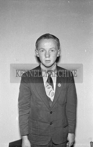 1956; A photo of a boy taken at the studio in Tralee.