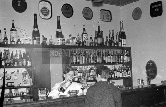 1956; A photo of the interior of the Valentia Royal Hotel.
