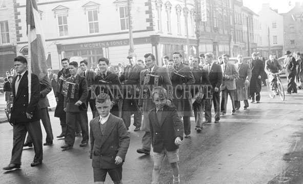 4th November 1956; A photo taken during the unveiling of the Kevin Barry Memorial in Tralee.