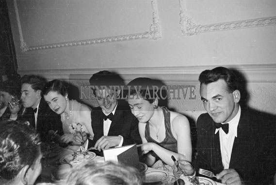 February 1956; The Dinner At The TCLS Annual Dinner Dance At The Lake Hotel In Killarney.