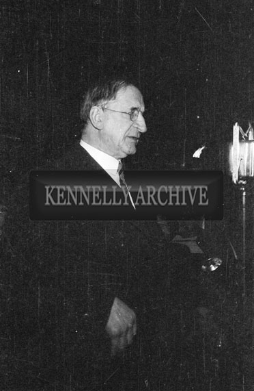 27th February 1956; Eamon De Valera At Fianna Fail's Final Rally In The By-Elections At Denny Street In Tralee.