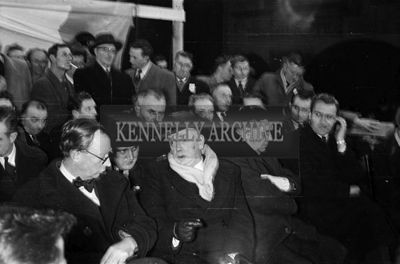 1st March 1956; A Crowd Attending The By-Elections At Tralee Courthouse In Ashe Street.