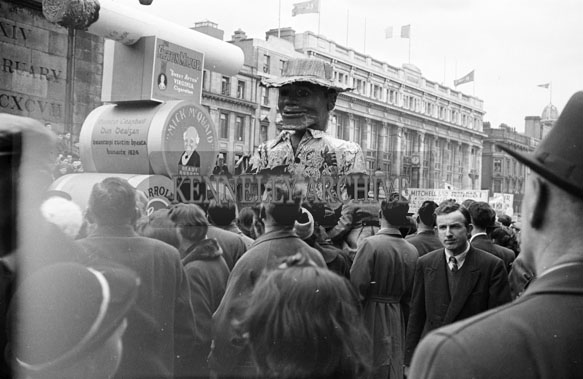 17th March 1956; The St. Patrick's Day Parade And Floats In Dublin.