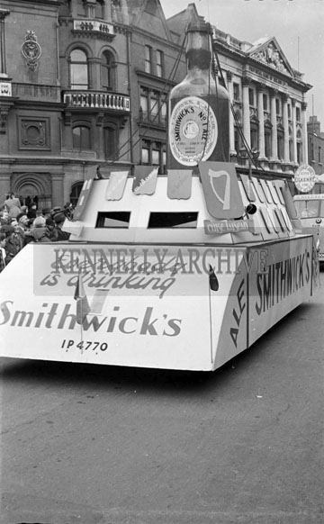 17th March 1956; The Smithwick's Float At The St. Patrick's Day Parade In Dublin.