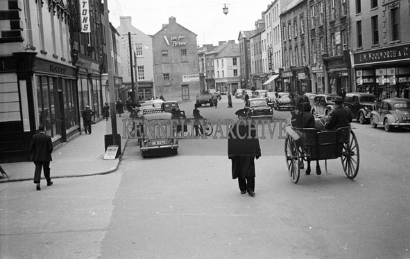 14th November 1956; A street scene from The Mall in Tralee.