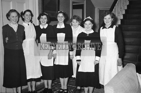 18th February 1956; The Staff Pose For A Photo At St. Mary's Social Celebrating The South Kerry County GAA Championship Team In Caherciveen.