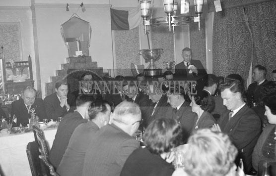 18th February 1956; St. Mary's Social Celebrating The South Kerry County GAA Championship Team In Caherciveen.