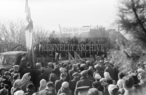 26th February 1956; Eamonn De Valera Making A Speech In Ballyheigue, Co. Kerry For By-Elections.