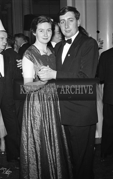 27th November 1956; Tunney and Aine Galvin at the Tralee Chemists Dance which took place in Killarney.