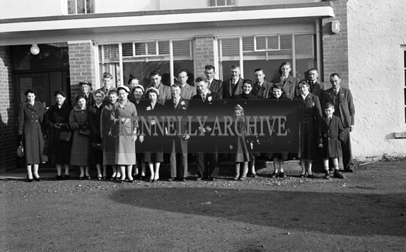 29th November 1956; A photo taken at a wedding which took place at the Meadowlands Hotel in Tralee. The Bride was Miss O'Donnell from Annascaul.
