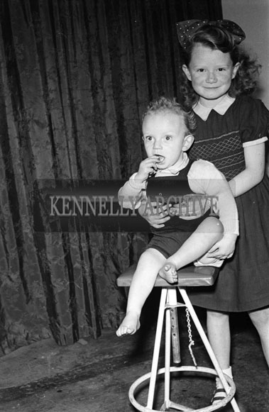 December 1956; Members of the Tarrant Family from Killarney pose for the camera at the studio in Tralee.