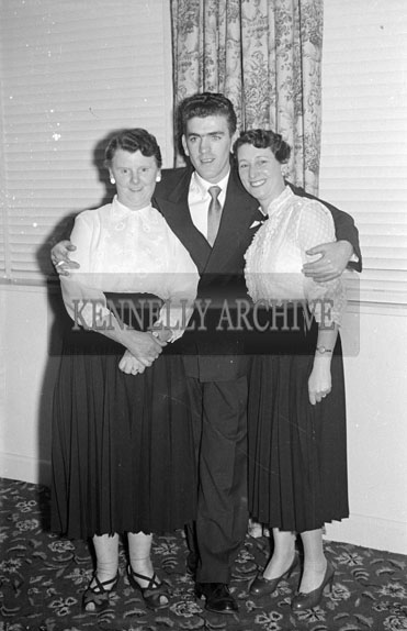 December 1956; People enjoying the night at the Kerins O'Rahilly's Social which took place at the Meadowlands Hotel in Tralee.