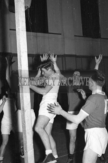 24th March 1956; An Action Photo From A Basketball Game.