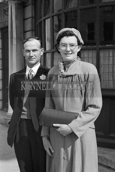 1956; A photo taken at a wedding which took place in the Grand Hotel in Tralee.