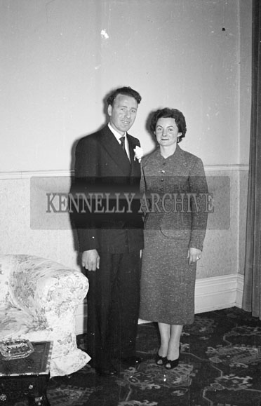 3rd April 1956; A photo taken at the Parker/Mangan Wedding which took place at Lixnaw Church followed by the reception at the Great Southern Hotel in Killarney.