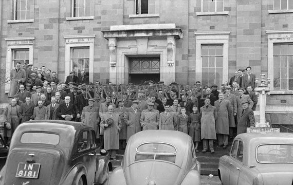 February 1957; A photo of a Farmer's Deputation to Kerry County Council in Tralee.