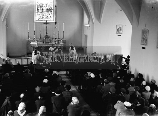 15th April 1957; Bishop Moynihan blesses the newly renovated Church of St. Brendan, Cloghers, Ballymacelligott.