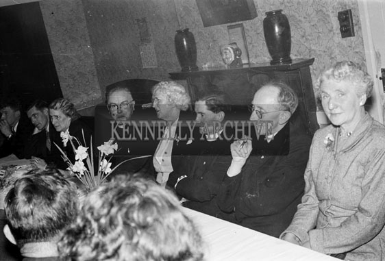 April 1956; Enjoying the night at the Passion Play Social in the Meadowlands Hotel in Tralee.