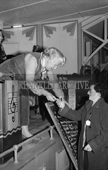 April 1956; A photo taken at the Kerry Irish Countrywomen's Association Quartely meeting at the Strand Pavilion in Ballybunion.