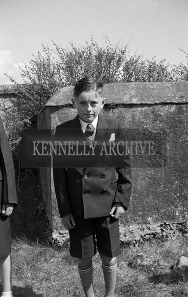 16th April 1956; A photo taken on Confirmation Day in Ballinskelligs.