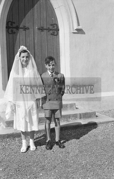 16th April 1956; A photo taken on Confirmation Day in Waterville.