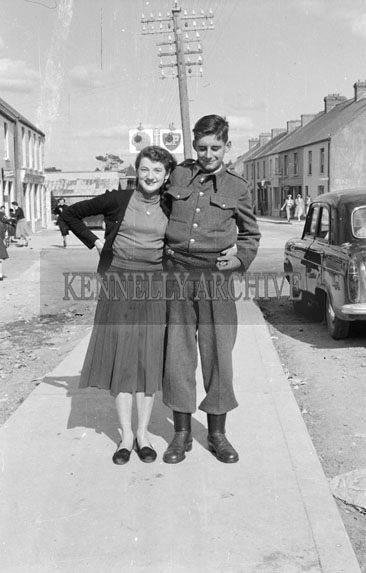 16th April 1956; A photo of a man and a woman taken on Confirmation Day in Glenbeigh.