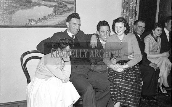 December 1956; People enjoying the night at a social which took place at the Meadowlands Hotel in Tralee.
