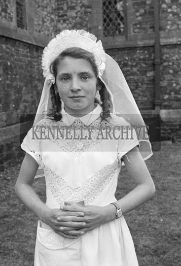 20th April 1956; A photo taken on Confirmation Day in Brosna.