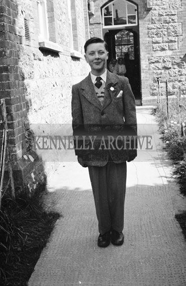 April 1956; A photo taken on Confirmation Day in Castleisland.