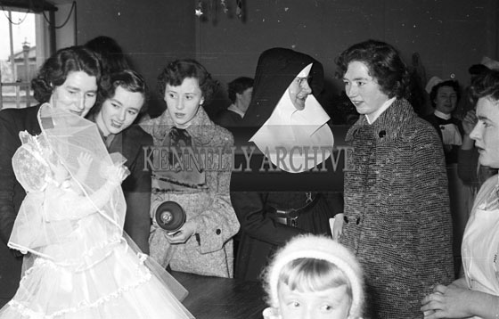 December 1956; Santa Claus pays a visit to the hospital in Tralee.