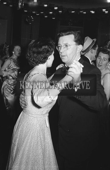 January 1957; A photo of people enjoying themselves at the Tralee Rugby Club Dance in the Great Southern Hotel, Killarney.